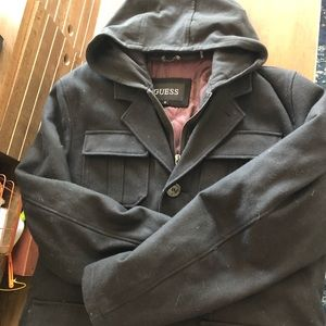 Guess Zip up Peacoat